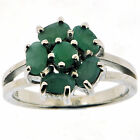 .925 Sterling Silver 1.82 Ct Emerald Ring