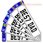 BEST DAD IN THE WORLD NOVELTY NUMBER PLATE BOOKMARK - MULTIPLE DESIGN CHOICES