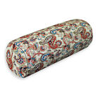 lf336g Red Blue Brown Khaki High Quality Cotton Canvas Bolster Cushion Cover