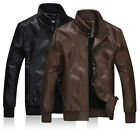 BP226 New Top Men Designed Thick Warm winter Faux Leather Jackets Coats