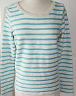 GAP~ Women Caribbean Blue Stripe Reverse Terry Sweatshirt $45~Size S,L~NWT
