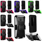 For Motorola Moto X 2nd 2014 X+1 Side Stand Holster Cover Case + Screen Guard