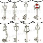 Kingdom Hearts Series Keyblades Metal Pendant Necklace NIB