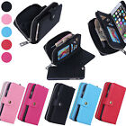 PU Leather Zip Flip Magnet Wallet Case Cover for iPhone 5 5S 6 6 Plus Galaxy S6