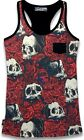 Ladies Tank Top Rosary Roses Skull BNWT Tattoo New Liquor Brand Punk Gothic tags