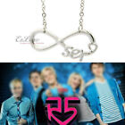 LENGTH OPTION American Pop Band R5er Heart Infinity Necklace love chain FAN CLUB