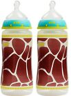 NUK 2 Pack Orthodontic Bottles Animal Prints 10 ounce