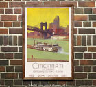 NY Central - Cincinnati - Reproduction Vintage Railroad Travel Poster