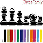 CHESS FAMILY CUSTOM FIGURES DAD MOM TEENS KIDS PETS VINYL STICKERS DECAL (CF-02)
