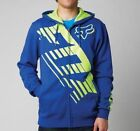 NEW FOX RACING A1 SAVANT LE BLUE FLO YELLOW ZIP UP FLEECE HOODIE HOODY MENS