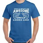 This Is What An Awesome Uncle Looks Like - Mens Funny Father's Day T-Shirt