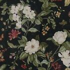 Colonial Williamsburg Garden Image color Black Fabric CHOICE YOUR LENGTH