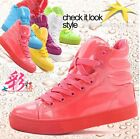 Pop dance shoes Womens girls fashion Candy Platform Sneakers sport shoes boots