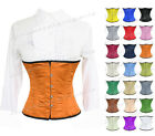 Satin Steel Boned Waist Training Underbust Burlesque Shaper Corset #9965(BT)
