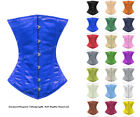 26 Double Steel Boned Waist Training Satin Underbust Shaper Corset 8522-OT-DB-SA