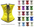 24 Double Steel Boned Waist Training Satin Underbust Shaper Corset 8521-BT-DB-SA