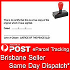 35mm x 70mm Customed Flash Stamp Self Inking Justice of the Peace QLD