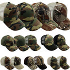 Camo Camouflage Snapback Hat Army Desert Curved Brim Hunting Fishing Baseball