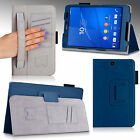 "For Sony Xperia Z3 Compact 8"" Tablet Folio PU Leather Slim Fit Case Stand Cover"