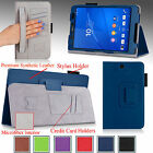 """For Sony Xperia Z3 Compact 8"""" Tablet Folio PU Leather Slim Fit Case Stand Cover"""