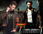 X-MEN 1 Origins Wolverine Brown Biker Leather Jacket Costume Halloween M-3XL