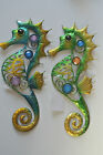 Beautiful Gem Metal Medium Seahorse Wall Art Plaque