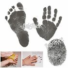 Newborn Baby Hand Print Footprint Kit Black Inkless Wipe Handprints Foot Prints