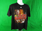 NASCAR #15 Clint Bowyer Burnout two sided men's  T-Shirt  by Chase Authentics