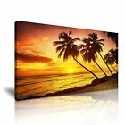 NATURE TROPICAL BEACH SUNSET 4 Seascape 1-21 Framed Canvas Print ~  More Size ~