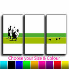 Bowls Banksy Treble Canvas Wall Art Picture Print