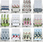 Modern Bathroom Shower Curtains, Choice of Extra Long and Wide or Narrow Width