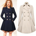 Top Designer Womens Trench Coats Slim Long Outwear Double-breasted Jackets Parka