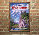 Pan Am Germany Vintage Airline Travel Poster 6 sizes matte+glossy avail