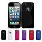2 X APPLE IPHONE 5/5S GEL CASE + FREE SCREEN PROTECTOR