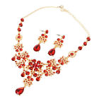 Shinning Prom Wedding Bridal Jewelry Crystal Rhinestone Necklace Earring Sets