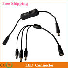 30CM 5.5X2.1mm Male to Female DC Power Plug Connector Switch Cable for LED Strip