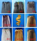 """WEFT REAL HUMAN HAIR EXTENSIONS STRAIGHT CURLY BODY WAVY 20"""" 100gr FULL HEAD"""