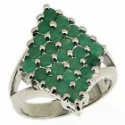 .925 Sterling Silver 2.5 Ct Emerald Ring