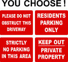 No Parking Keep Clear Private Drive Sign 40cmx30cm Extra Thick 5mm Rigid Plastic