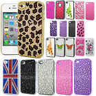 LUXURY CRYSTAL DIAMOND CASE BLING DIAMANTE COVER HARD  FOR APPLE iPHONE 4 4S