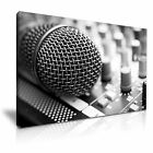 MUSIC Microphone Canvas Framed Printed Wall Art 8 ~ More Size