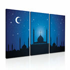 RELIGION Islamic Mosque Canvas Framed Printed Wall Art 17 ~ 3 Panels
