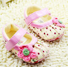 Mary Jane Toddler Baby Girl Polka Dot Crib Shoes Walking Shoes Size 0-18 Months