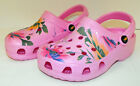 Pink Soft Rubber Clog Shoes with Big Flowers Child Kid's Sizes Veggies Gator