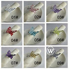 100 pieces Butterfiy Paper Napkin Ring Wedding Party Favor Colors U Pick