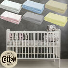 JERSEY FITTED SHEET COTTON MOSES BASKET CRIB COT BED TODDLER TRAVEL NEXT 2 ME
