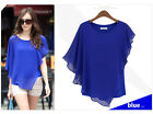 Spring and summer T-shirt falbala short sleeve chiffon ladies batwing coat