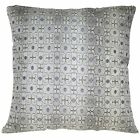 va07a Ivory P. Grey Silver Grey Black Silver Dot Cotton Blend Cushion Cover/Case