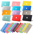 "Macbook Rubberized Hard Case +Free Keyboard Cover for Mac Pro Air 11""13""15"" inch"