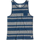 Quiksilver Antons Mens Vest Tank - Dark Denim All Sizes